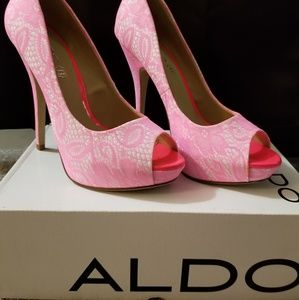 Aldo Pink & White